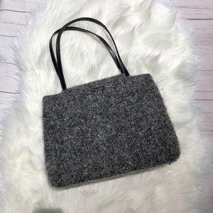 [Kate Spade] Vintage Gray Boiled Wool Sam Tote Bag